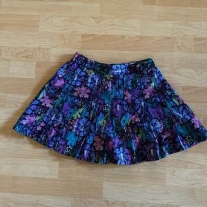 Vintage pleated Nike skirt with floral design